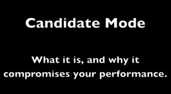 Dr. Argy presents Candidate Mode
